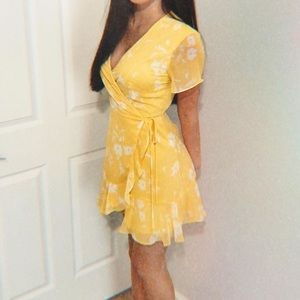 Nordstrom Yellow Floral Dress